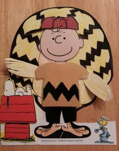 Tom Turkey disguised as Charlie Brown, so he doesn't get eaten for Thanksgiving dinner. (Save Tom the Turkey project)