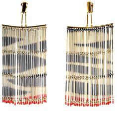 valentino fringe earrings