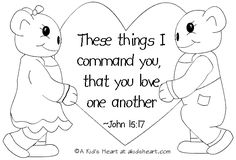 Bible Verse Coloring Pages Jesus Coloring Pages, Bible Verse Coloring Page, Coloring Pages For Kids, Coloring Sheets, Valentines Bible Verse, Sunday School Coloring Pages, Valentines Day Drawing, Valentines Day Coloring Page, Scripture Cards