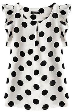 SportsWell Women's Dots Pleated Sleeve Slim Fit Blouse Gi... https://www.amazon.com/dp/B01CY721QC/ref=cm_sw_r_pi_dp_xavFxbK6564C9