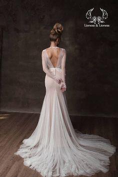 Sexy wedding dress Gabriel beige beige wedding dress