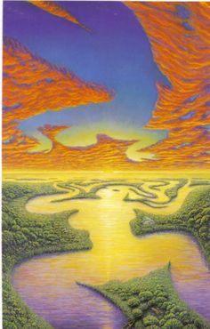 Mother Earth & Father Sky ~ Artwork by Mark Henson ♥♥ Tina Modotti, Gaia, Art Visionnaire, Mystique, All Nature, Visionary Art, Surreal Art, Mother Earth, Original Paintings