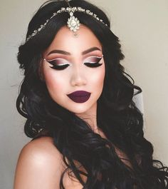 Beautiful hair, makeup and jewelry
