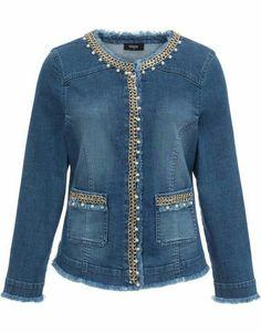 Denim Fashion, Fashion Outfits, Blue Jean Jacket, One Clothing, Mode Hijab, Classic Outfits, Refashion, Diy Clothes, Long Sleeve
