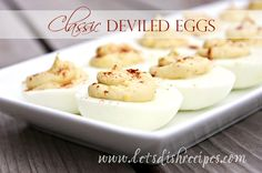 I don't know why I don't make deviled eggs more often. I love them!They area good way to use up all those hard boiled eggs at Easter time, but they're also great to bring along to picnics and b...