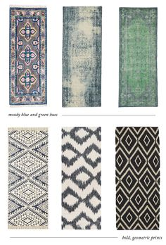 A collection of 12 rug runners that will add a big dose of color to your kitchen. Style Me Pretty Living, Kitchen Flooring, Kitchen Rug, Eclectic Kitchen, Kitchen Black, Kitchen Wood, Kitchen Carpet, Kitchen Stuff, Kitchen Design