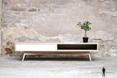 Table basse caisson style vintage sur mesure made france