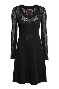 Fijngebreide jurk - Zwart - DAMES   H&M BE