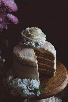 Orange Blossom Cake with Salted Caramel Buttercream (Vegan & Gluten-Fr | TermiNatetor Kitchen | A Midwest-based food and photography blog
