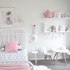 Look At This Amazing Little Girls Bedroom By 😍😍 Featuring The New Jasper  Quilt Cover (in Reverse), Kmart White Stool, The Table And Chairs And The  Bunny ...