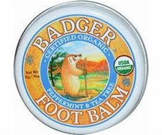 Distinct Organics - Badger Certified Organic Foot Balm - 21g, $10.95 (http://www.distinctorganics.com/badger-certified-organic-foot-balm-21g/)