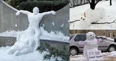 These Aren't Your Ordinary Snowmen - (24 Funny Pics)