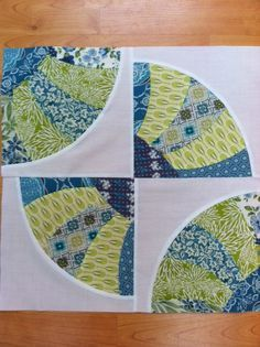 """#QuiltBlock #8 by mtclifford2012, via Flickr The """"Curve it Up"""" Quilt Along by Sewkindofwonderful"""