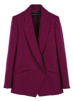 Simple line wool jacket2