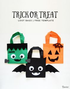 DIY Halloween treat bags are fun to make, especially when you know of some little ones to enjoy them. This easy tutorial comes with bonus template patterns.