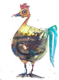 Fat Albert http://ift.tt/2bbwOAw Art watercolor acrylic doodle art painting artistsoftumblr watercolor