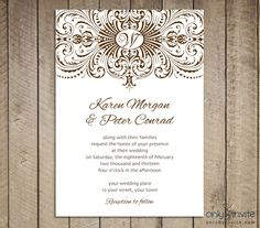 Cool 30 Free Printable Wedding Invitations To Download For Free