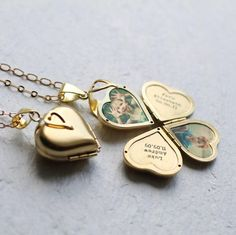Friends And Family Locket by Silk Purse, Sow's Ear, the perfect gift for Explore more unique gifts in our curated marketplace. Heart Locket, Locket Necklace, Kids Necklace, Miss You Gifts, Family Album, Unique Vintage, Ethereal, Metallica, Heart Shapes