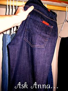 How to keep your dark jeans dark: wash inside out in cold water and soak new jeans in white vinegar & water:)