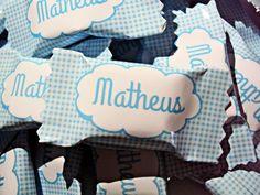 Bala Personalizada para lembrança de maternidade ou chá de bebê.