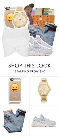 """"" by ayeeitsdessa ❤ liked on Polyvore featuring Casetify, Michael Kors, Levi's, NIKE and Topshop"