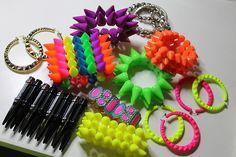neon jewellery <3 *.* my fav