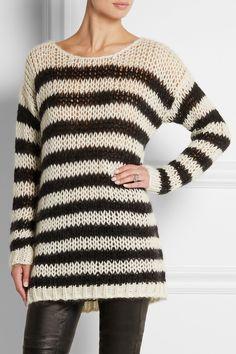 Saint Laurent|Pull en laine mélangée à rayures|NET-A-PORTER.COM