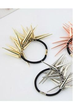 "spike accessories | Metal Spikes Accessories | ""Punk Metal Spikes Hair Band"" by Chicnova ..."