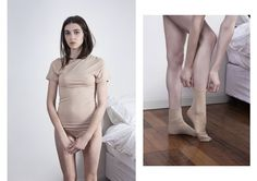 Knickers and T-shirt leotard by Baserange, Socks by Articles of clothing