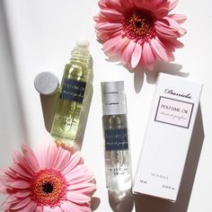 Get your own all natural perfume oil for spring. White Pea and five other exquisite scents available only at Daniela Cosmetics!