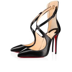 Marlenarock Nappa Shiny 100 Black Lambskin - Women Shoes - Christian  Louboutin