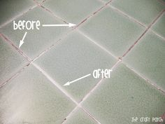 Homemade Grout Cleaner:  7 cups water 1/2 cup baking soda 1/3 cup lemon juice 1/4 cup vinegar  Mix all ingredients together in a spray bottle (watch out---it foams!). Spray on the stained grout. Let it sit for an hour or two. Use a scrub brush to wipe away the dirt.