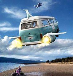 Volkswagen flying bus