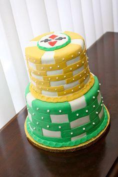 Pa-pa-pa Poker Cake