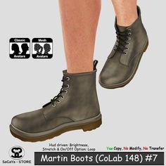 Secondlife - Fashion, Secondlife - Footwear, Second Life Marketplace, SaCaYa, Mesh, Boots, Classic Avatar, Slink, Belleza, Maitreya, Martin Boots, Martens Boots, CoLab 148, CoLab Kit