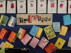 The Lost Thing by Shaun Tan. Students had a great time using the illustration features in the book to create their board title. Primary also created their own book using a lost character for their infants buddies.