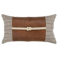 Give any room a cozy, lived-in look with the Color Block Square Throw Pillow from Rizzy Home. Designed with a wonderful finish, the pillow brings an effortless touch of understated luxury to your chair, sofa or bed. Mode Kimono, Leather Pillow, Leather Throw Pillows, Down Pillows, Couch Pillows, Soft Furnishings, Throw Pillow Covers, Pillow Shams, House Colors