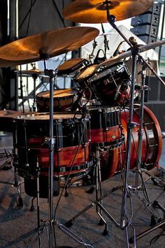 OCD Drum Set on stage