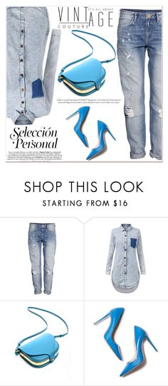 """""""Blue Style"""" by janee-oss ❤ liked on Polyvore featuring H&M"""