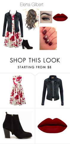 """""""Elena Gilbert Style"""" by lexipaigee on Polyvore featuring beauty, Dolce&Gabbana, LE3NO, Nly Shoes, tvd and ElenaGilbert"""
