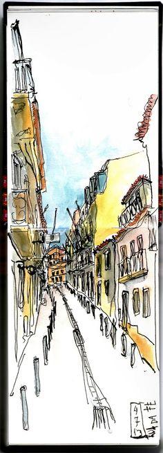 draughtsman's contract: Rua da Fé, Lisboa