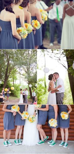 i really like this wedding. it reminds me of you; vintage, casual and fun (plus the girls have converse shoes on). you just need to change some of the colors (obviously)