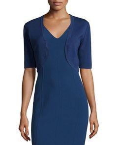 MICHAEL KORS Half-Sleeve Open Shrug, Sapphire. #michaelkors #cloth #