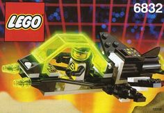 lego 6832 - blacktron II Love the neon green and black color palette.