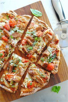 Sausage, Fennel & Asparagus Pizza