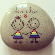 #artwork #artrocks #artstones #beachstone #girlswholikegirls #girlsrock #happy #happyrocks #instaart #instalove #iloverocks #kærlighed #kærlighederkærlighed #lgbt #lbgtrights #lbgtlove #lbgtsupport #loverocks #paintedstones #rainbow #rockkindness #stenmaling #stonepainting #rockpainting #rocksrock #paintingstone