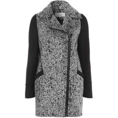 Women's Salt and Pepper Biker Coat ($58) ❤ liked on Polyvore featuring outerwear, coats, jackets, coats & jackets, biker coat and zip coat