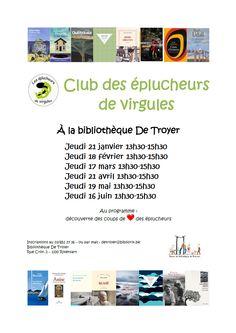 Les bibliothèques publiques de Rixensart - Club des éplucheurs de virgules le jeudi 18 février 2016 de 13h30 à 15h30 à la bibliothèque De Troyer