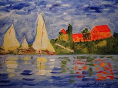"After Monet ""The Regatta at Argenteuil"" on EBay"