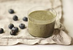 Gwyneth Paltrow's Blueberry Avocado Smoothie Add Shakeology to get 70+ healthy ingredients for 140 calories.